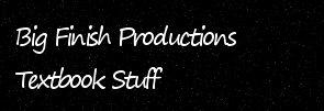 Big Finish Productions - Textbook Stuff
